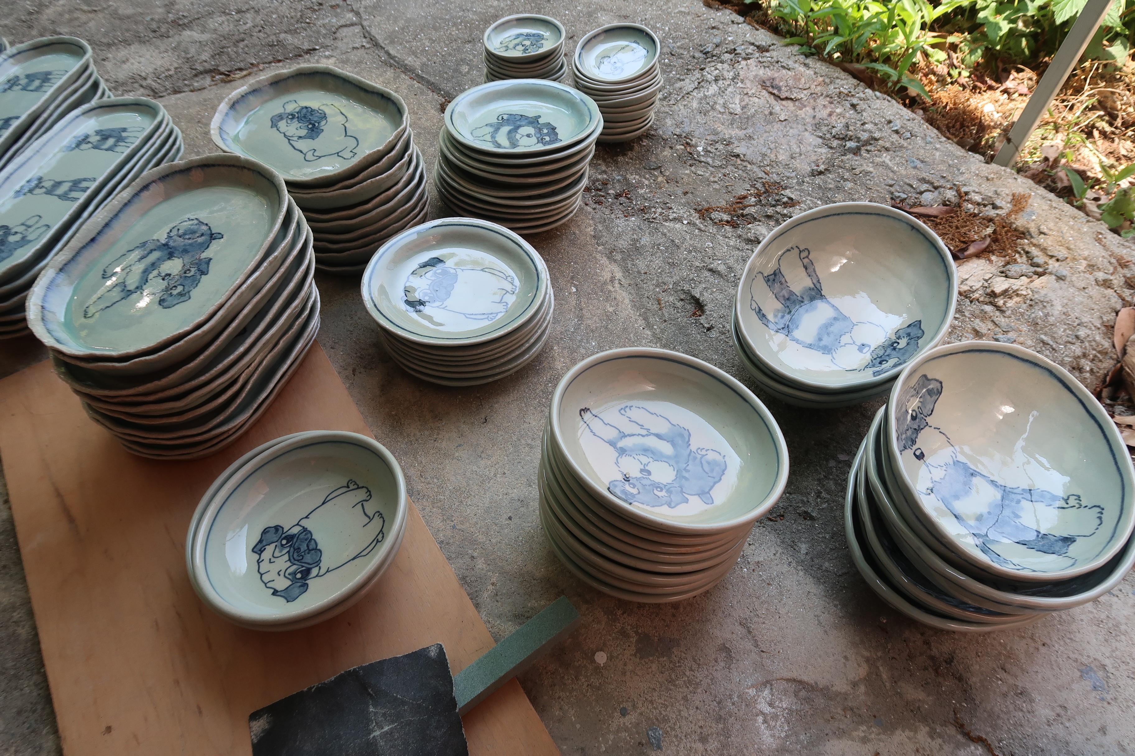 シュナウザー食器 陶芸 シュナウザー pottery Schnauzer