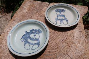 シュナウザー16㎝皿 陶芸 シュナウザー pottery Schnauzer