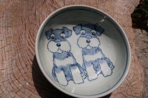 シュナウザー18㎝鉢 陶芸 シュナウザー pottery Schnauzer