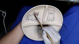 陶芸 シュナウザー pottery 柴犬