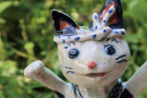 鉢巻 猫 陶芸